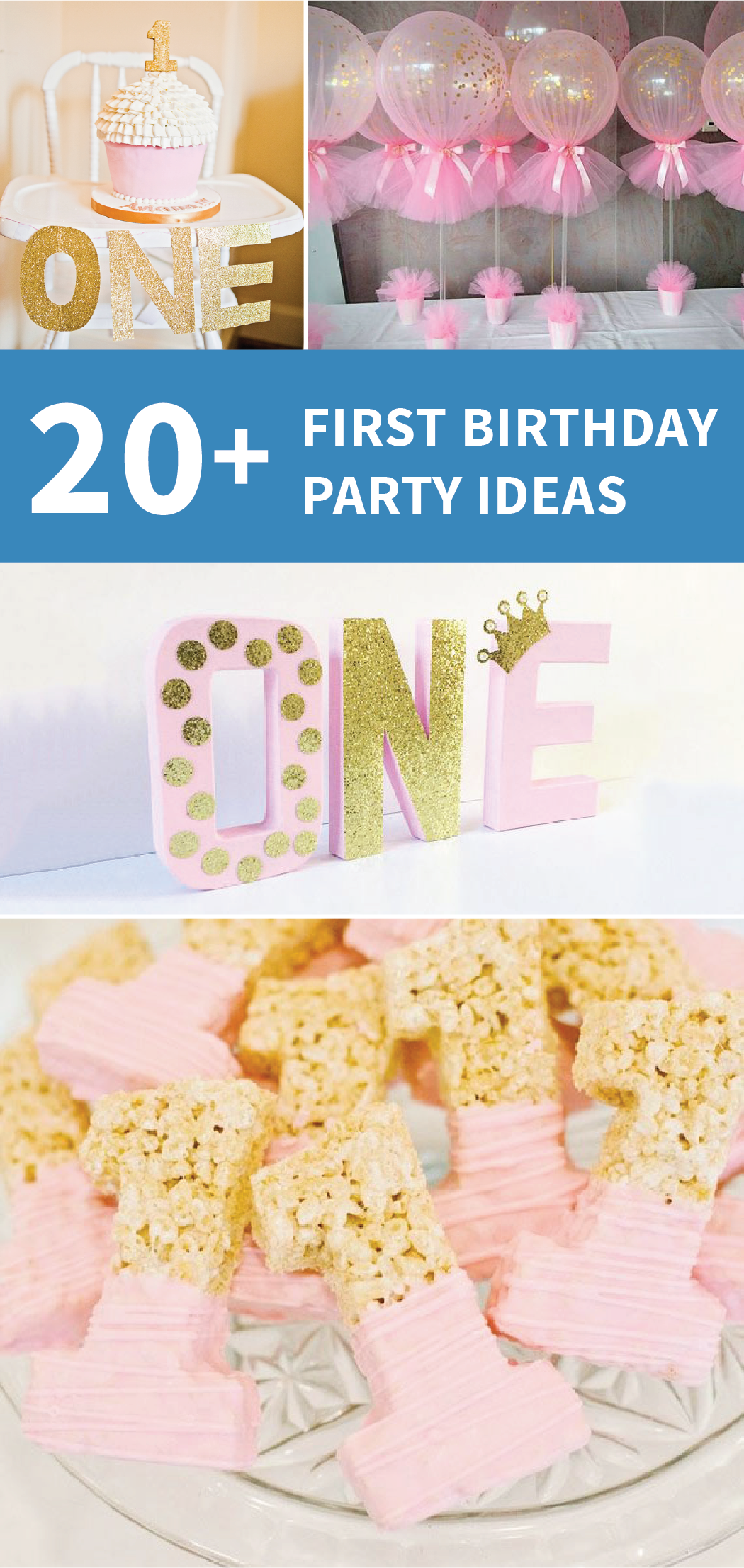 21 Pink and Gold First Birthday Party Ideas Gold decorations Rice