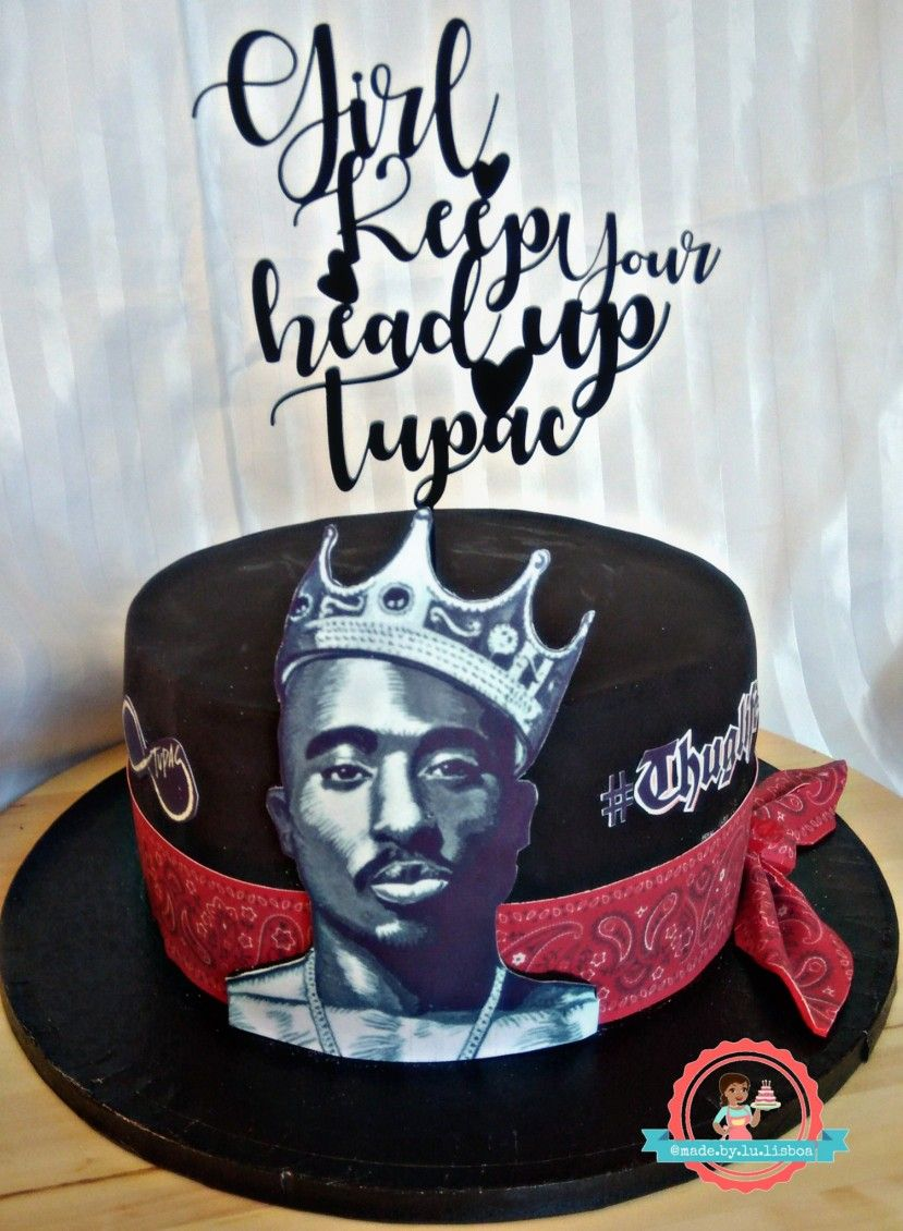 Brilliant Bolo Tupac Tupac Birthday 2Pac Birthday Harry Potter Birthday Cake Funny Birthday Cards Online Inifodamsfinfo
