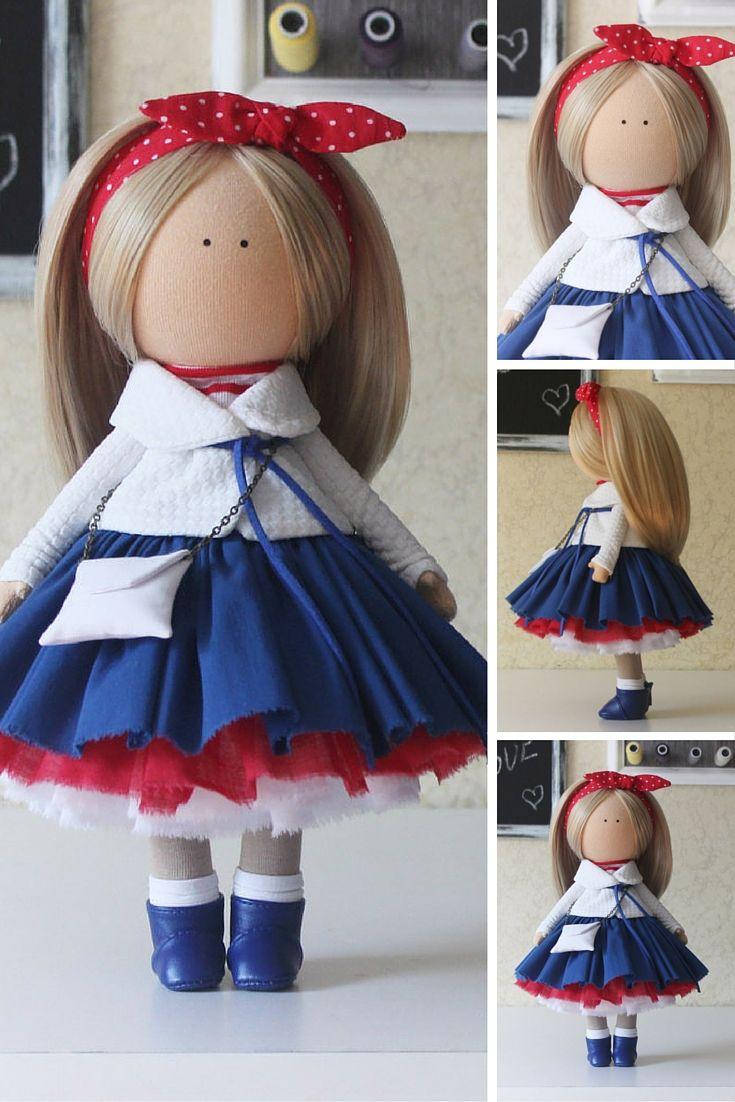 Tilda doll Handmade Collectable doll Baby doll Decor doll Home Soft doll unique magic doll by Master Margarita Hilko