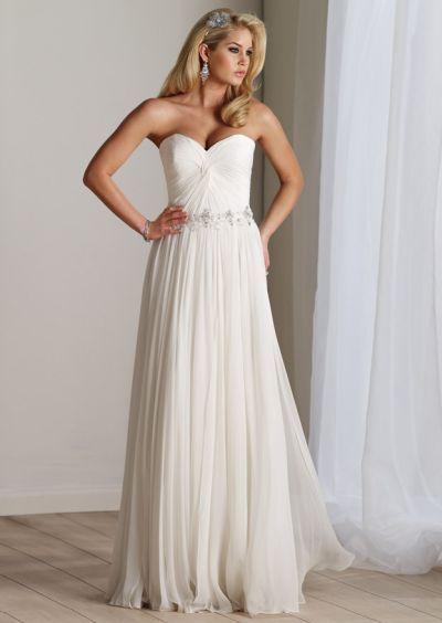 Chiffon Destination Wedding Dress