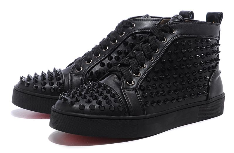 Christian Louboutin Louis Studded Hi Top Sneakers Black