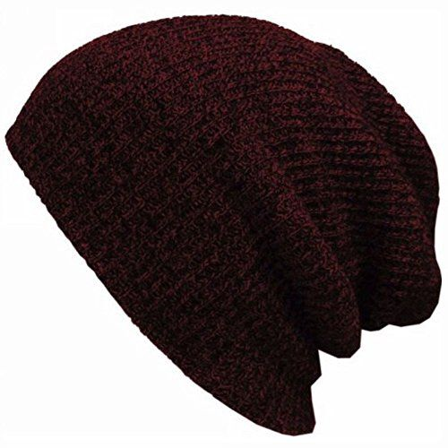 Fashion Men Knitted Baggy Beanie Winter Warm Hat Ski Slouchy Knitted Cap Skull