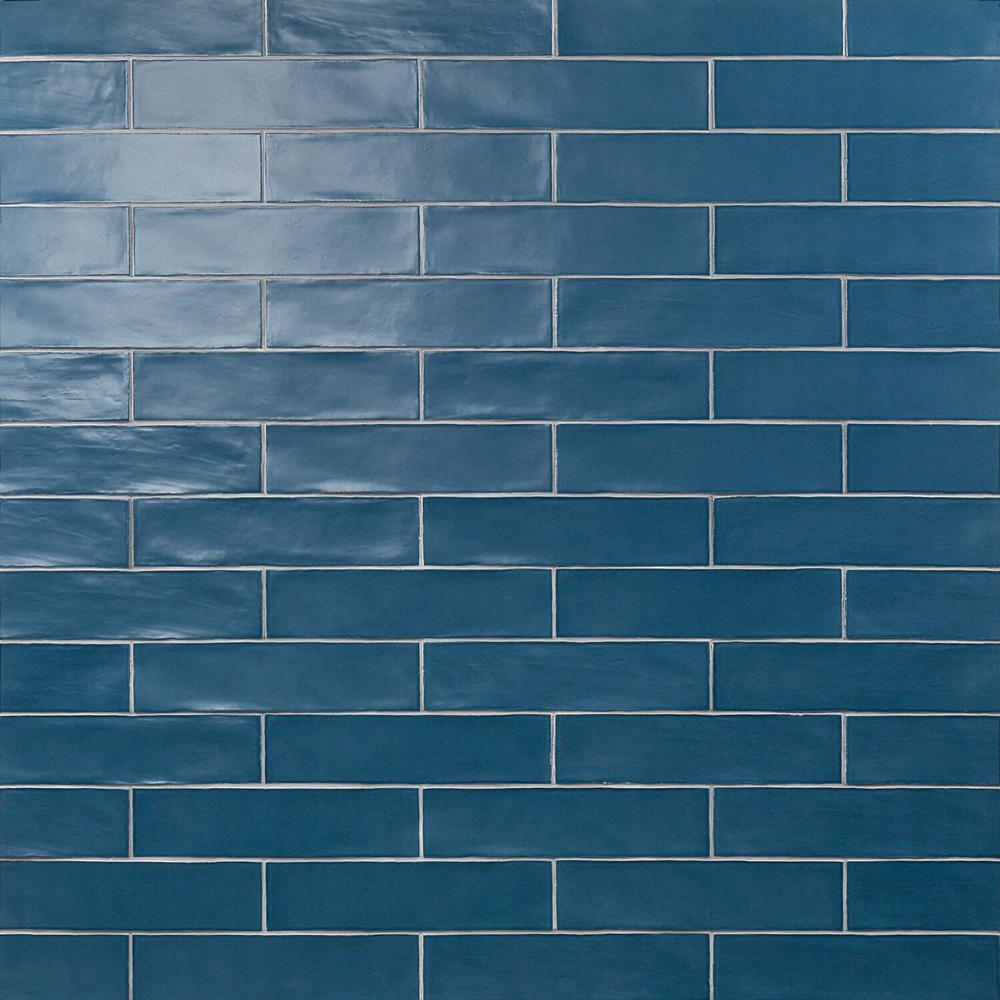 Ivy Hill Tile Strait Marina 3 In X 12 In 8 Mm Polished Ceramic Subway Wall Tile 22 Piece 5 38 Sq Ft Box Ext3rd100754 Blue Subway Tile Tiles Wall Tiles