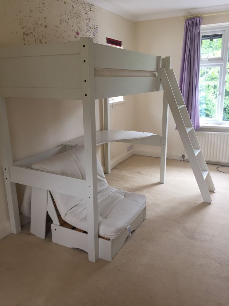 Ae High Sleeper Bed With Desk And Futon Child