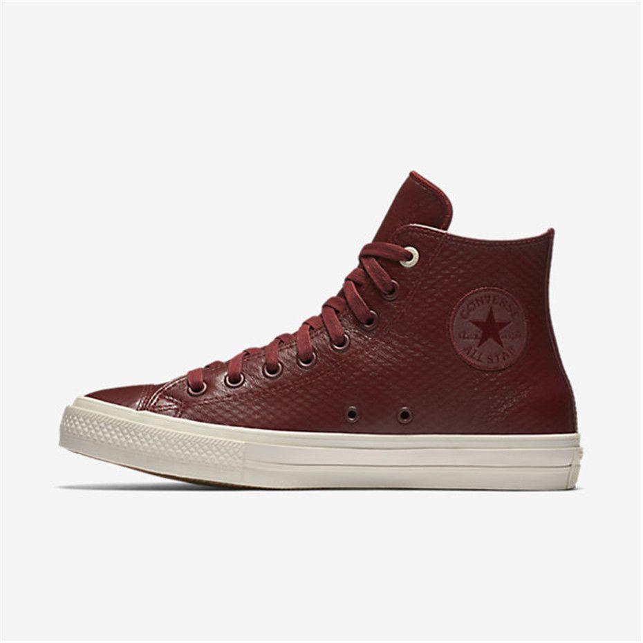 fd6dd79cede7c7 NIKE Converse Chuck II Mesh Backed Leather High Top (Dark Red)