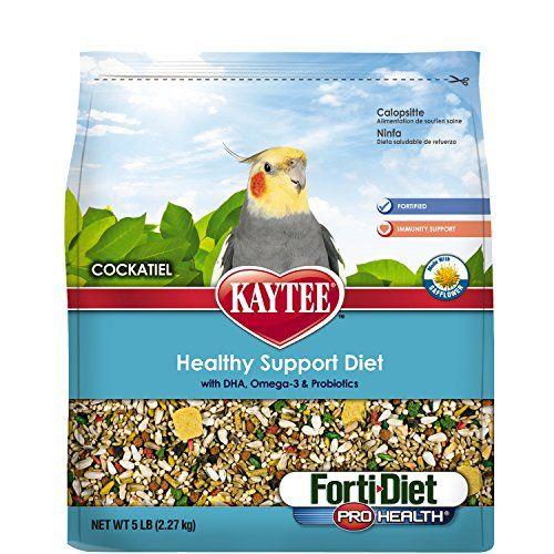 Kaytee Forti Diet Pro Health Bird Food With Safflower For Cockatiels 5 Pound Bag
