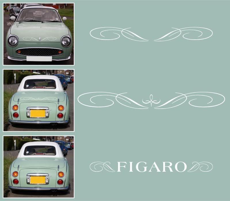 Replica Bonnet Boot Decals Stickers Figaro Owners Club Forum