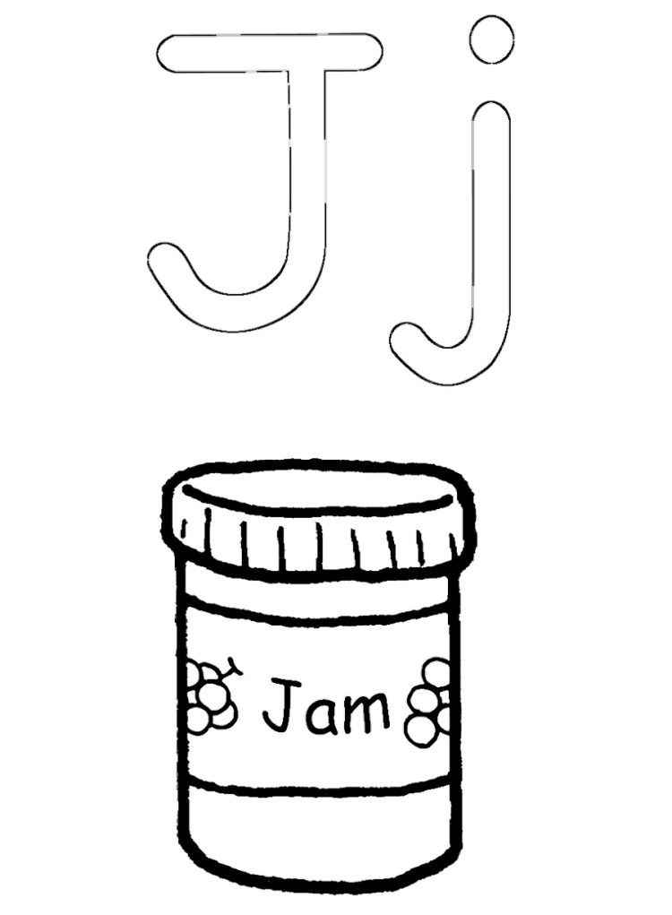 jam coloring pages for kids - photo#5