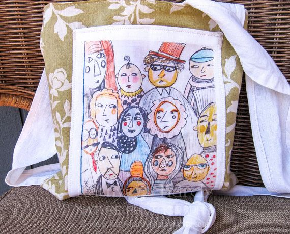 Crossbody Tote  One of a kind  Art of Kathy by DornickDesigns