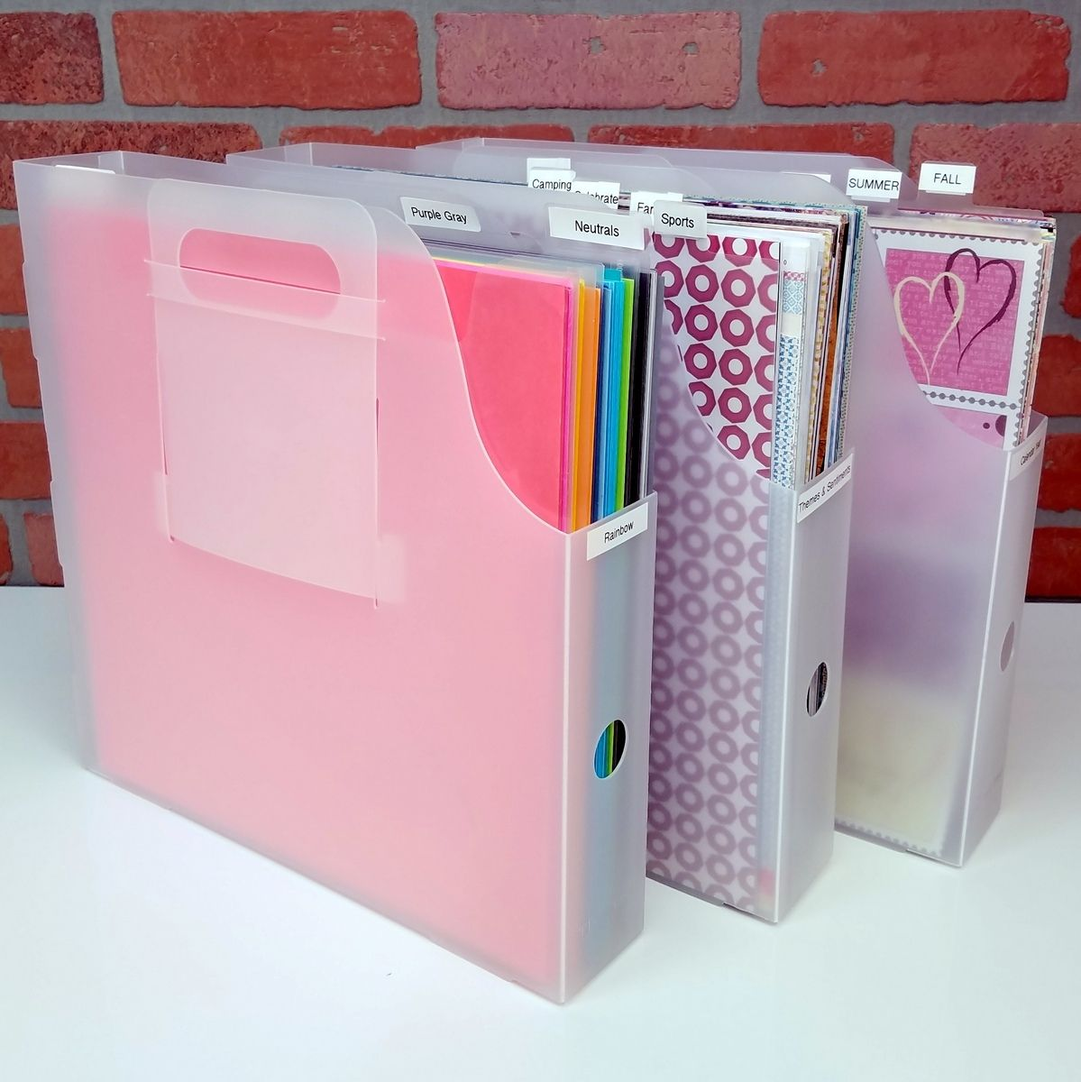Organize 12x12 Paper Cardstock And Collections With The Paper Manager Kit From Totally Tiffany Scrapbook Paper Organization Scrapbook Storage Scrapbook Room
