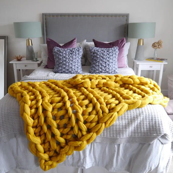 Mustard Yellow Throw Blanket Beauteous Mustard Yellow Chunky Knit Blanket  Yellow Giant Knit Blanket 2018