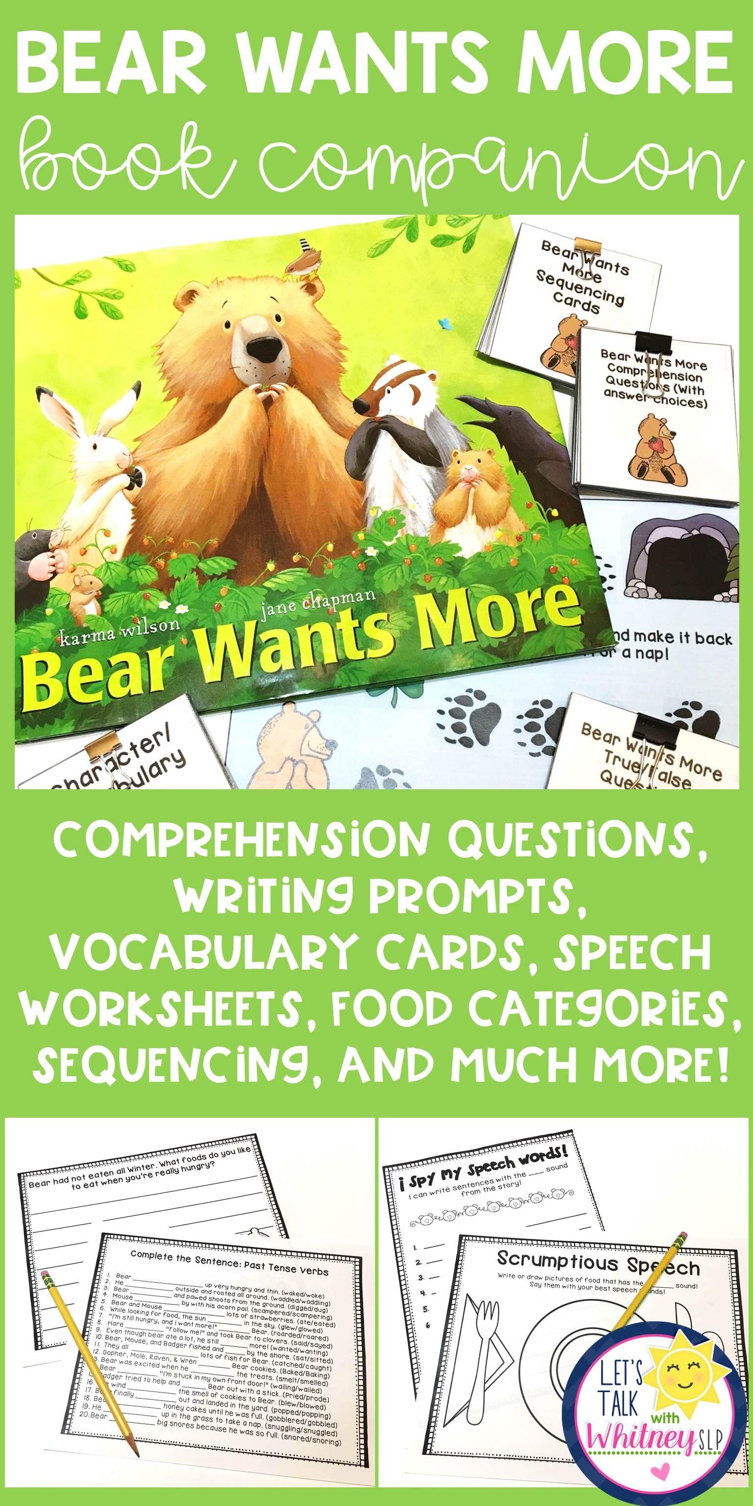 Bear Wants More Book Companion