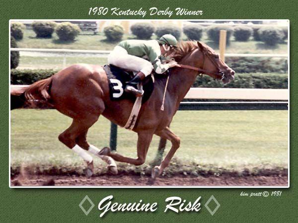 1980 Kentucky Derby Winning Filly Genuine Risk