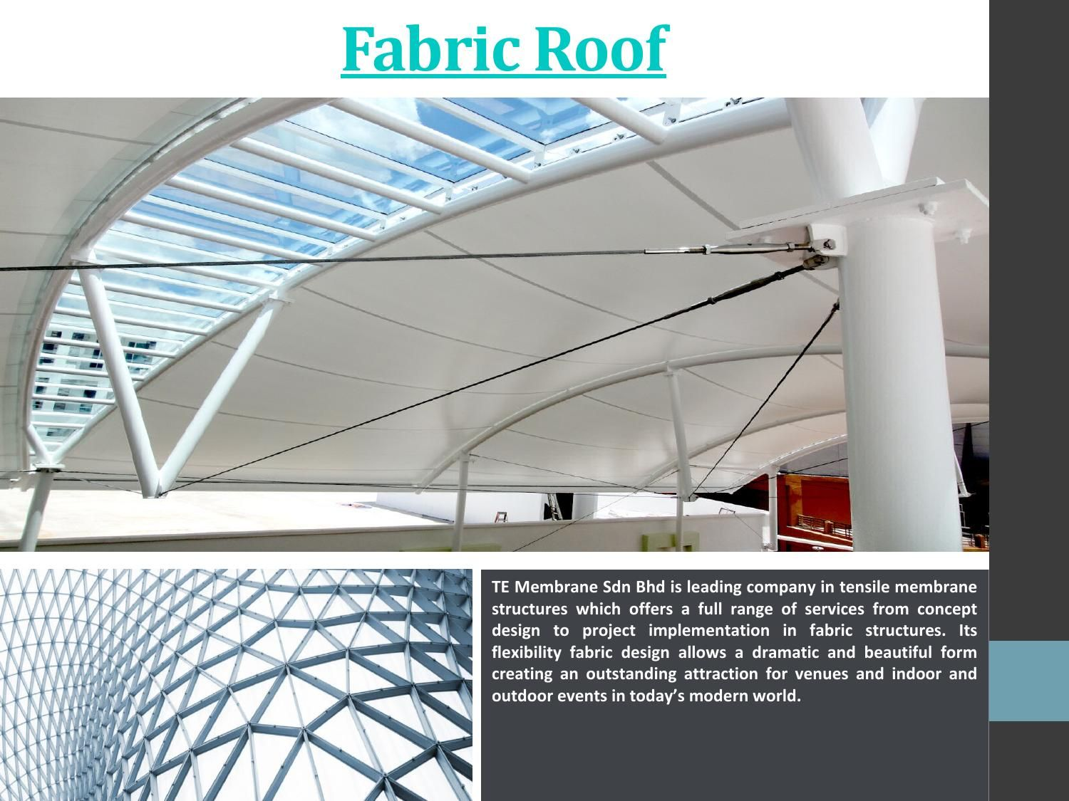 Fabric Roof Membrane Structure Fabric Structure Roof