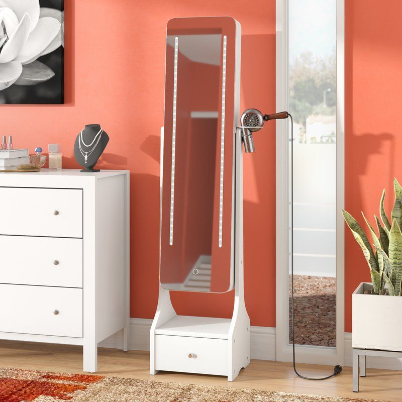 28++ Charlcombe touch screen led free standing jewelry armoire with mirror info