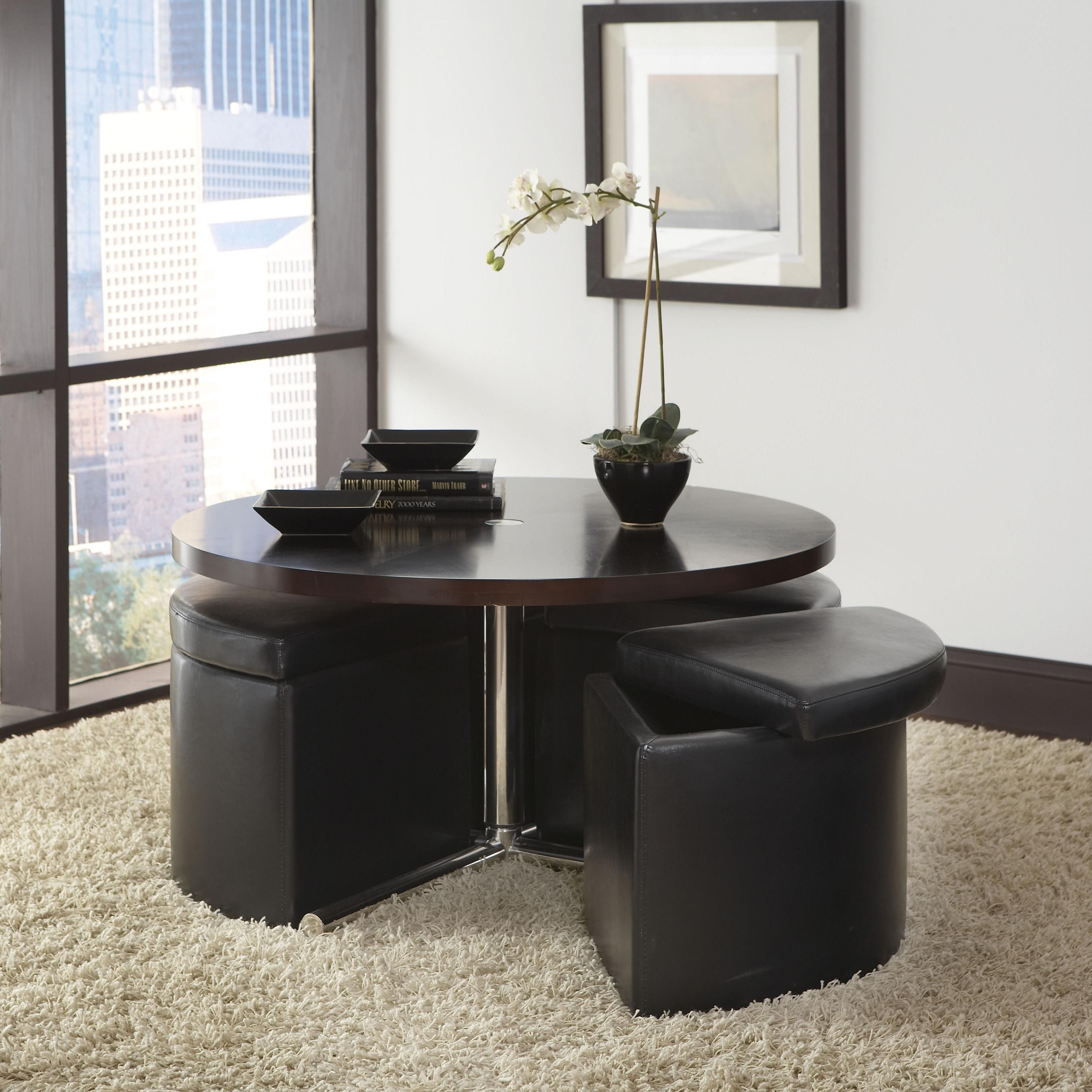 699 97 At The Brick Right Now But I Cannot Find It On Their Website Cosmo Round Wood Top Table With 4 Coffee Table Wood Cocktail Table Ottoman Coffee Table [ jpg ]