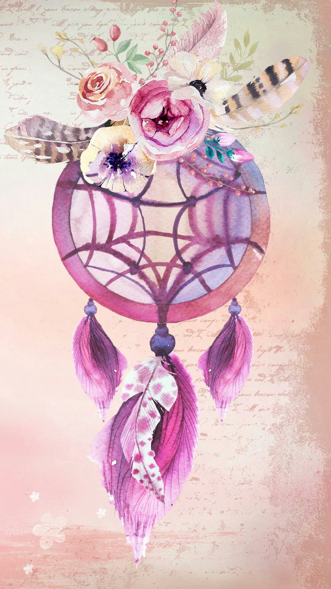 Pink And Gold Dreamcatcher Backgrounds