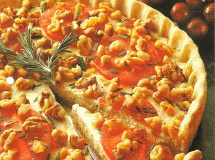 Savory Cheesecake Tart - Serve this appetizer cheesecake tart warm with crackers and fresh fruit.