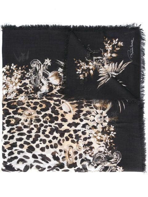 Roberto Cavalli Leopard Print Scarf Robertocavalli