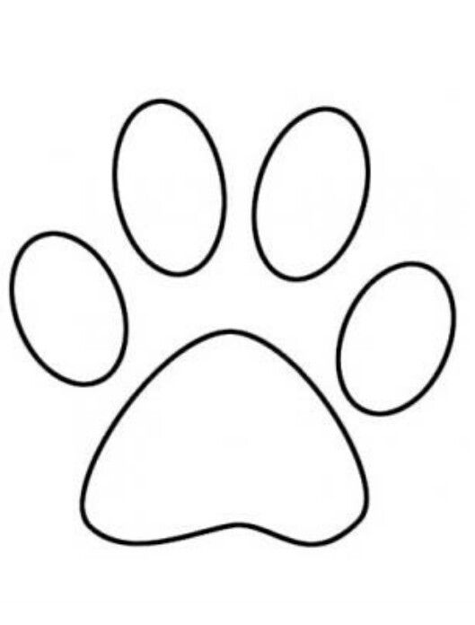 photo about Dog Paw Print Stencil Printable Free named Paw print Video games Paw print drawing, Canine paw drawing, Pet dog paws