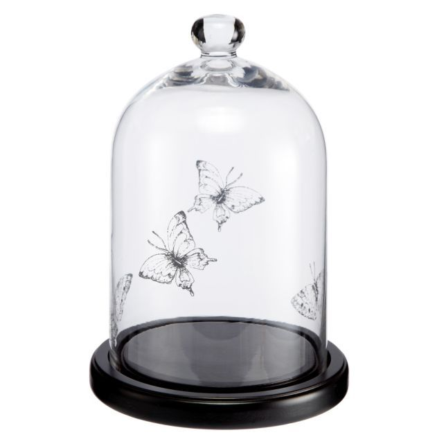 by Sainsburys Butterfly Print Cloche and Base - would prob paint the ...