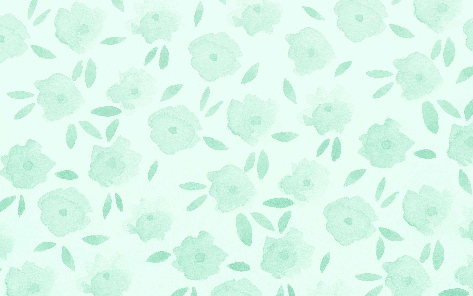 JenBPeters Flowers Mint Mint green wallpaper, August