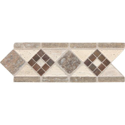 "Found it at Wayfair - Fashion Accents 11"" x 4"" Decorative Burnished Accent Tile in Honed Light"