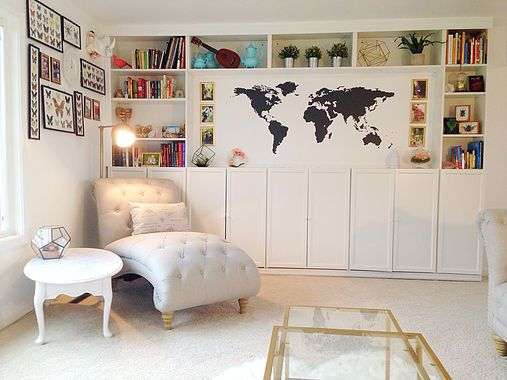 DIY Built in bookshelves. IKEA . World map decal. Gold and ... on disney map of the world, ikea world map small, vintage style map of the world, foot locker map of the world, habitat map of the world, giant map of the world, wall-e world, google map of the world, mcdonald's map of the world, subway map of the world, costco store locations around the world, meridium map of the world, map of pyramids around the world, pier 1 imports map of the world, ups map of the world, waterways map of the world,