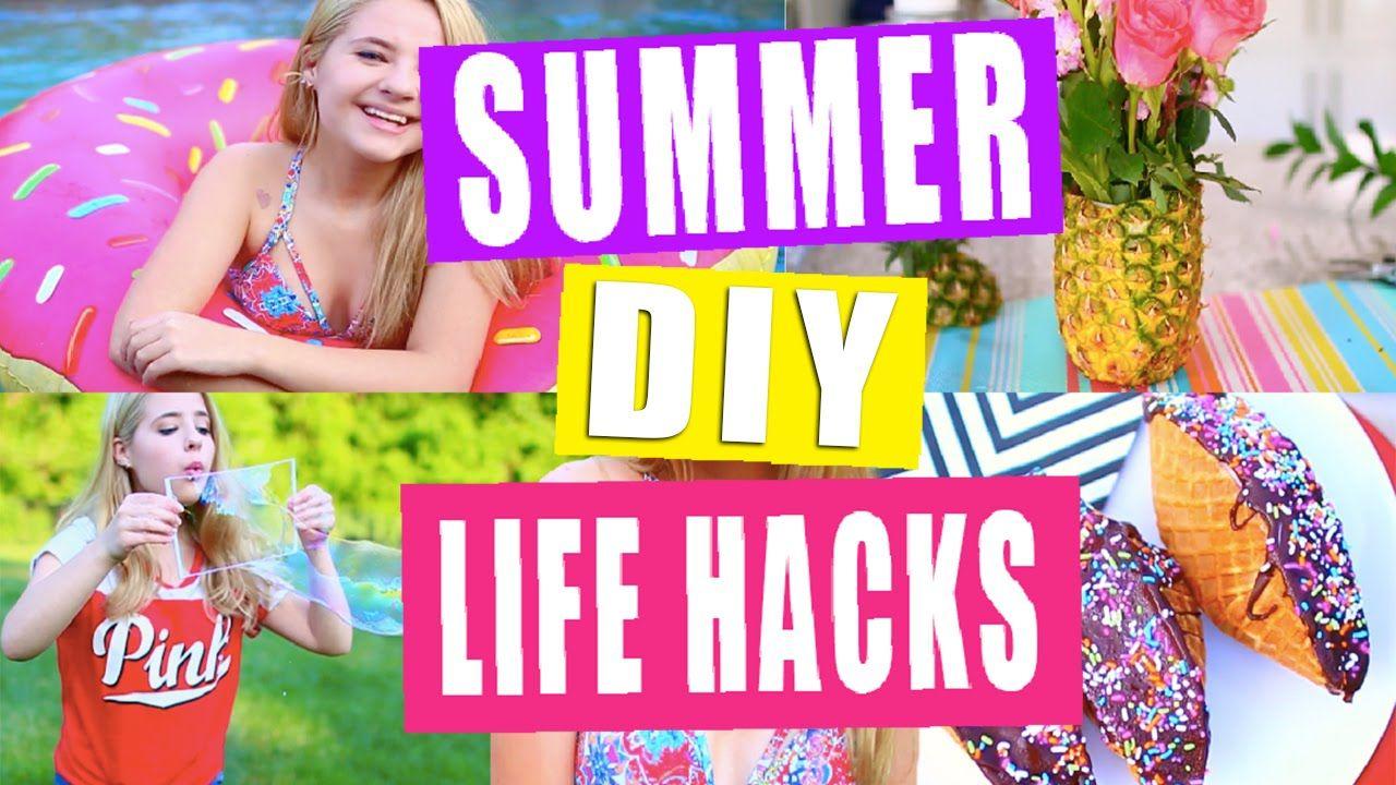 Summer life hacks and diys youtube diy pinterest for Room decor life hacks