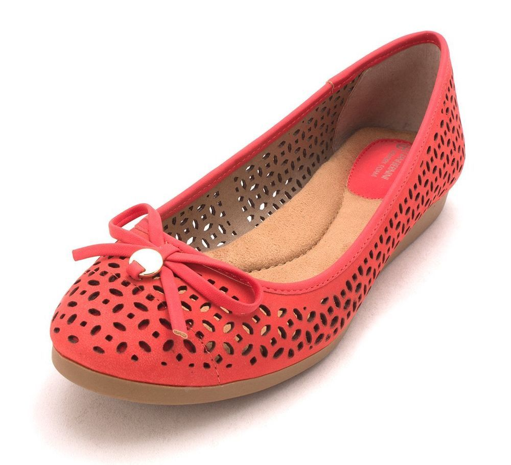 Giani Bernini Odeysa Ballet Leather Flats Comfort Shoes