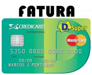 Emitir 2 Via Fatura Credicard D Super Local Mastercard Com