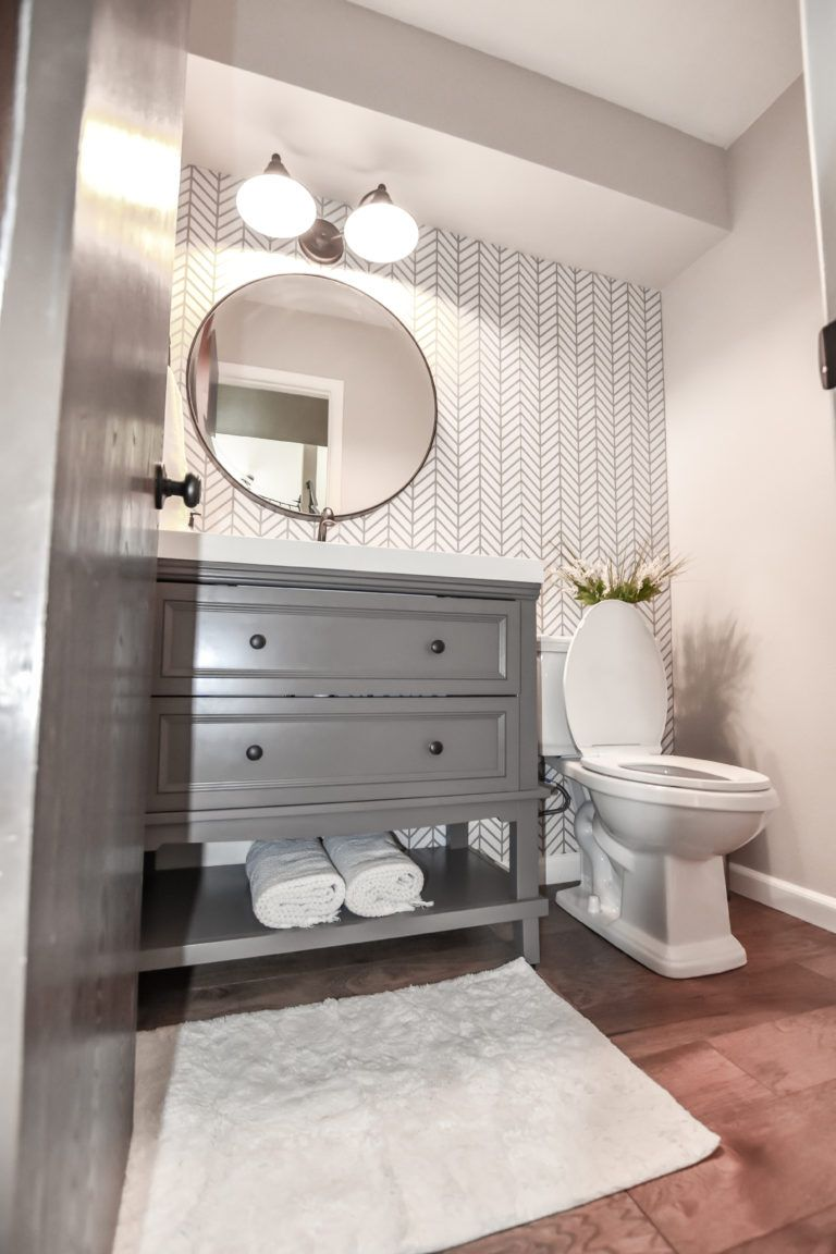 Photo of Dark and Dated to Bright and Modern – Powder Bath Remodel – CH Design Co.