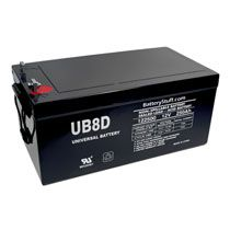 Universal 12v 250 Ah Deep Cycle Sealed Agm Battery Ub8dagm 45964 Solar System Kit Ups System Solar Power System