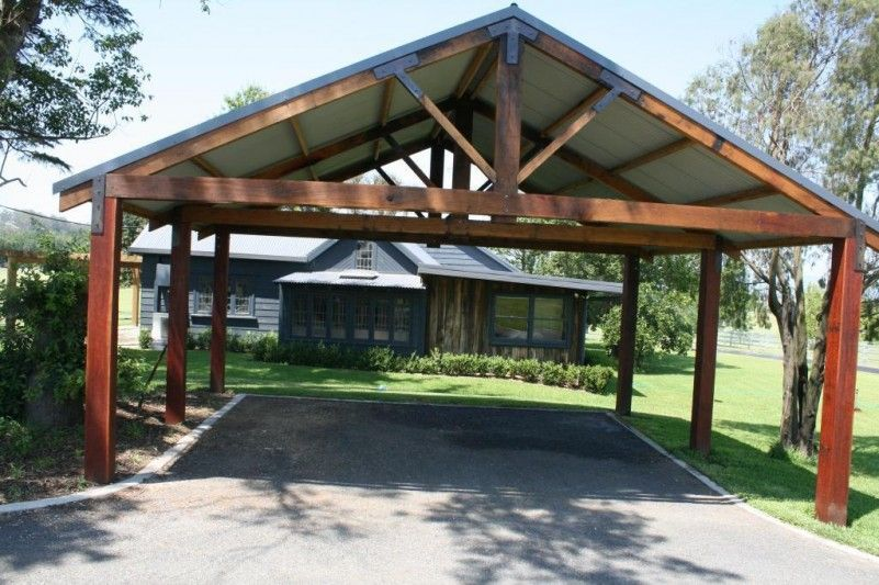 Simply Carport Design Ideas With Wooden Materials Building The Space For Car Parking Area