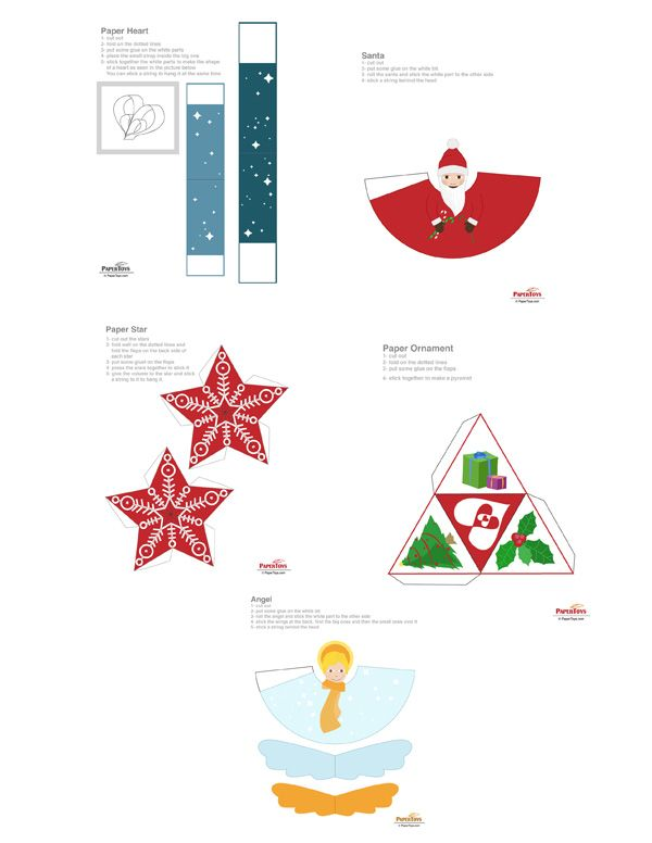 christmas ornaments paper model free paper toys and models at rh pinterest com
