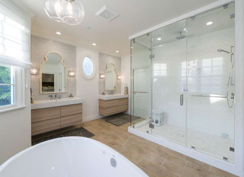 Interior design, pacific palisades, master bathroom, Ikea ...