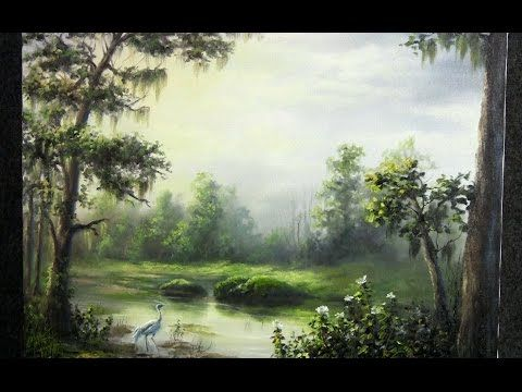 Oil Painting Sunlight On The Swamp Paint With Kevin Hill Kevin Hill Paintings Oil Painting Landscape Landscape Painting Lesson