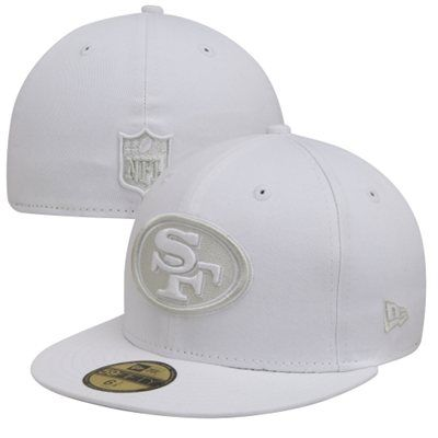 db21a6183cb27 New Era San Francisco 49ers Basic 59FIFTY Fitted Hat - White size 7 1 2