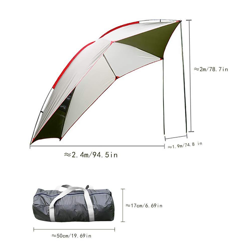 Car Tail Tent Awning Sun Shelter Trailer Tent Carport Tent Portable Tent Waterproof Auto Canopy Camper Trailer Tent Ou In 2020 Car Tent Camper Trailer Tent Tent Awning