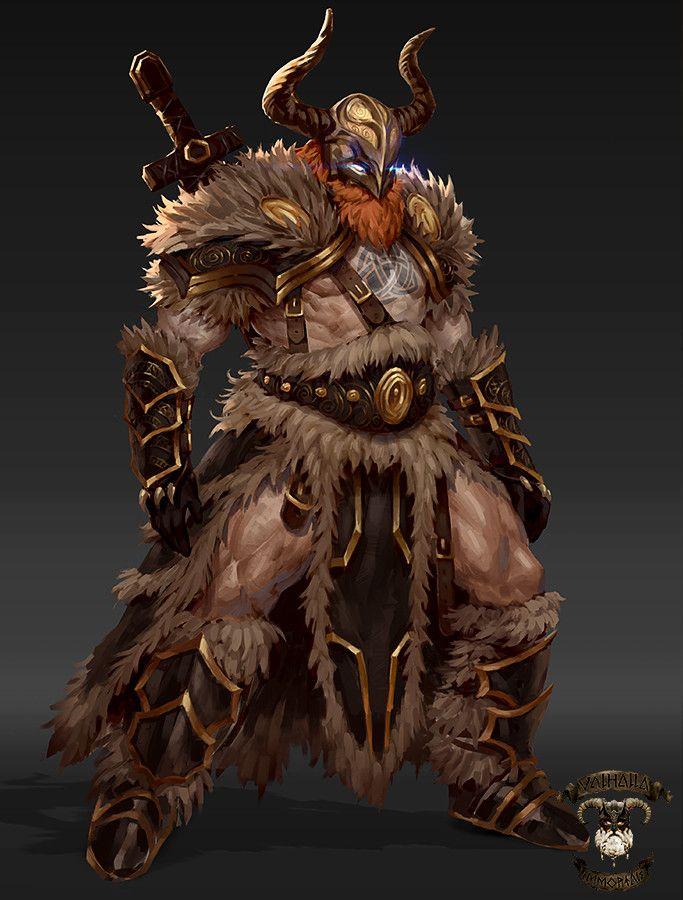 Artstation Viking Concepts Valhalla Immortals George