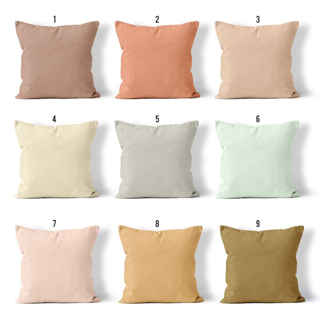 Neutral Throw Pillows With Beautiful Warm Tones Blush Pink Sand Terra Cotta Seafoam Pillows Homedecor Beige Pillows Neutral Pillows Bright Pillows