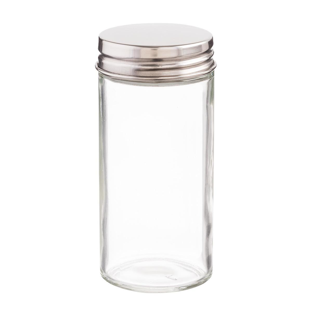 3 oz glass spice bottle with chrome lid cake spice bottles kitchen spice racks spice jars. Black Bedroom Furniture Sets. Home Design Ideas