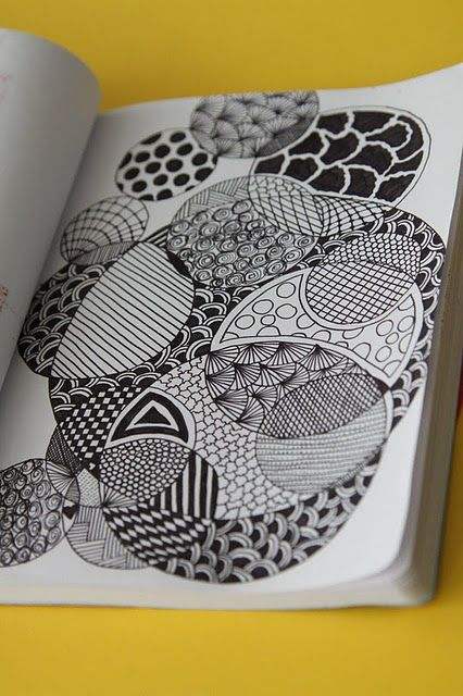 zentangle- I like the idea of repeating shapes...it might ...