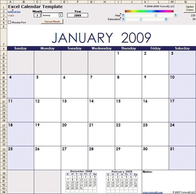 Calender templates helps to remember your daily tasks Excel - daily task template