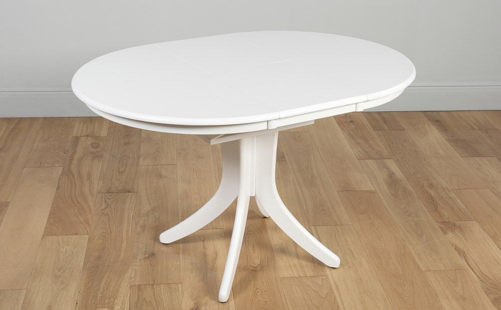 Hudson Round White Extending Dining Table With 4 Bewley Slate Fabric Chairs Round Dining Room Table Dining Room Table Round Dining Room