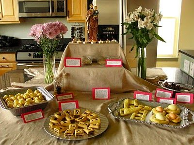 Wondrous St Josephs Altar Symbols And Their Meaning Traditions St Largest Home Design Picture Inspirations Pitcheantrous
