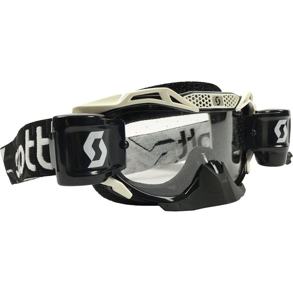 a78d479542e Scott Voltage Pro Air Black White WFS Roll-Off Goggles