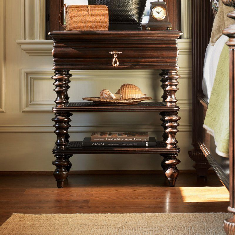 Royal Kahala 1 Drawer Nightstand Furniture, Wicker