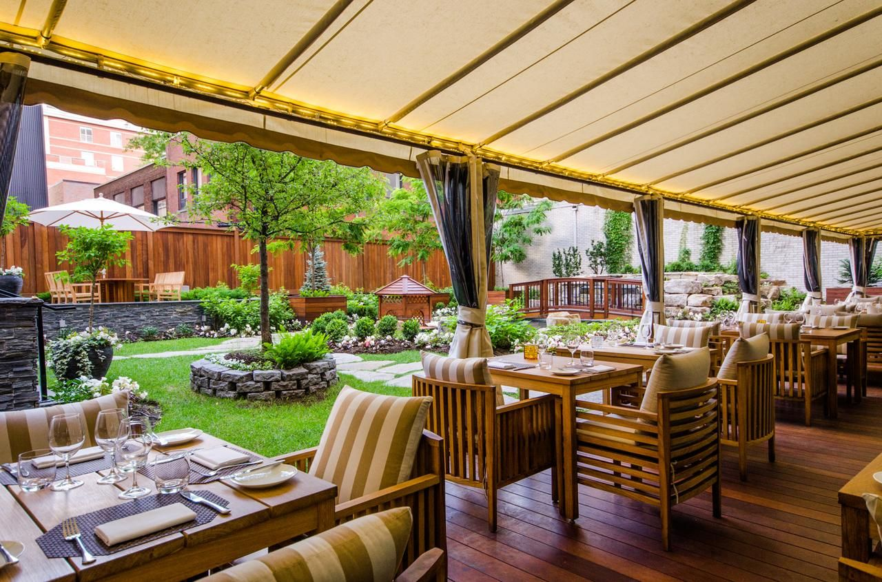 Incredible Outdoor Covered Patio Dining At The Ritz Carlton In Montreal Canada Patio Summer