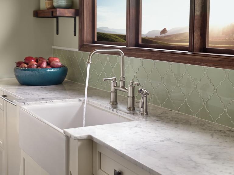 Artesso Bridge Kitchen Faucet With Side Spray   Includes Lifetime Warranty